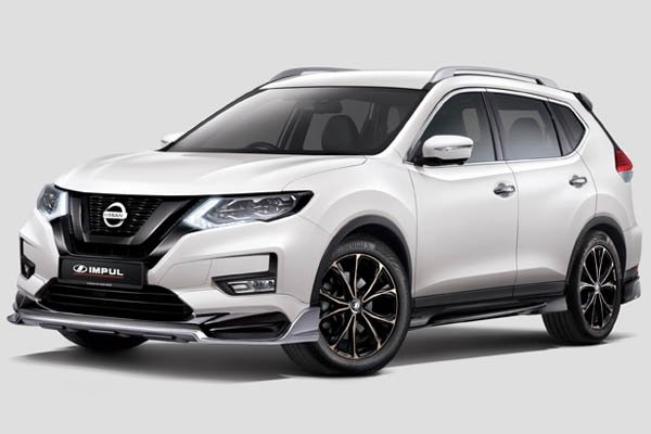 """Impul package for Nissan X-Trail priced at RM 11k, includes sports springs and 18"""" wheels"""