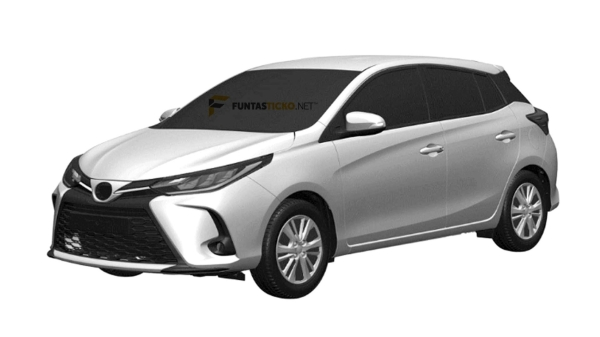 Leaked! Patent images of the Toyota Yaris facelift