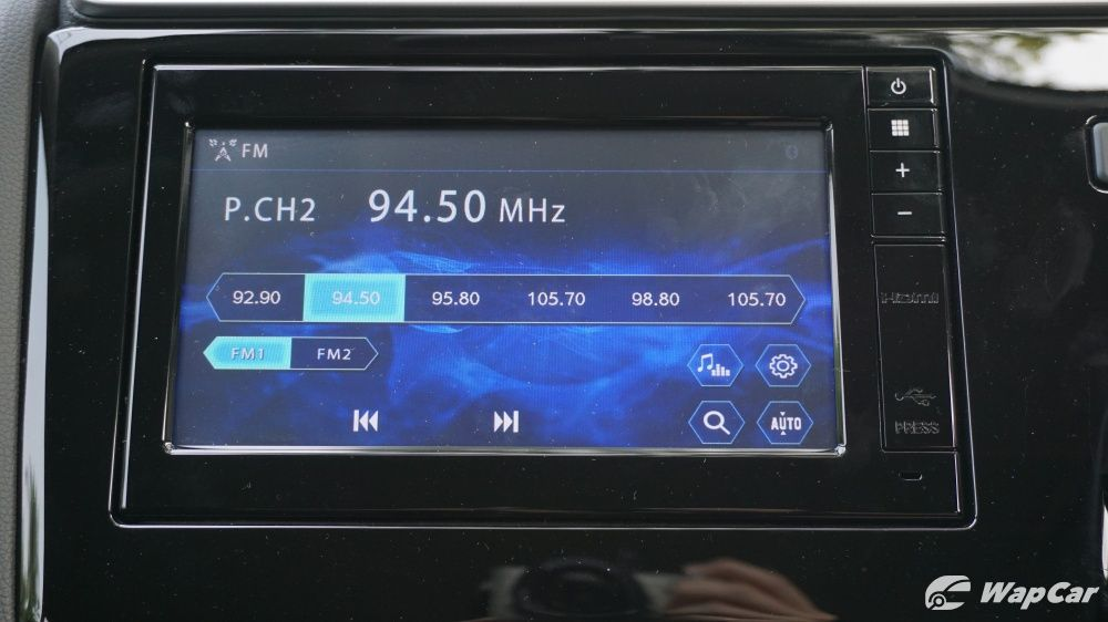 Honda Jazz radio screen on infotainment unit