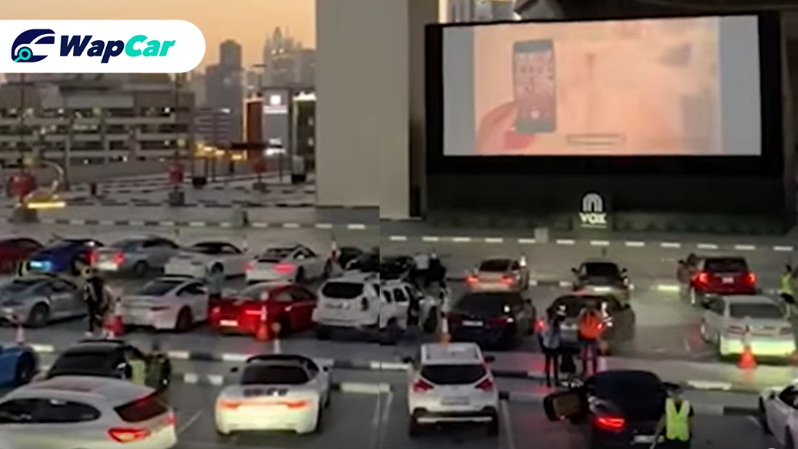 Drive-in theatre in UAE