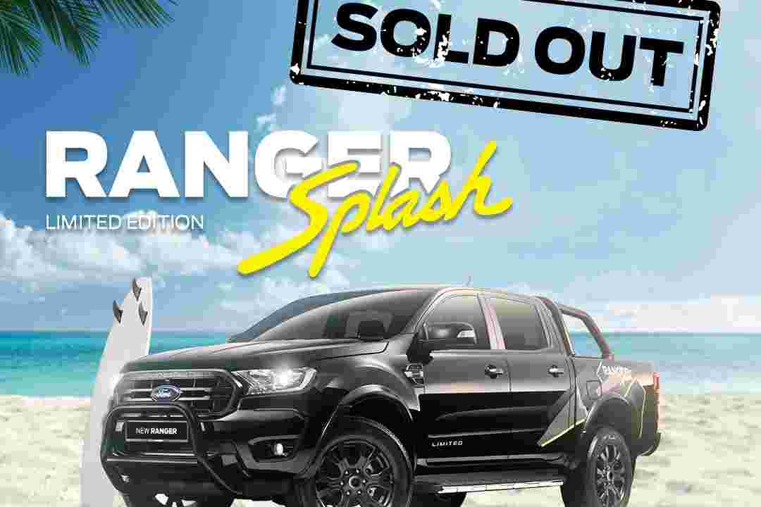 Limited Edition Ford Ranger Splash sold out!