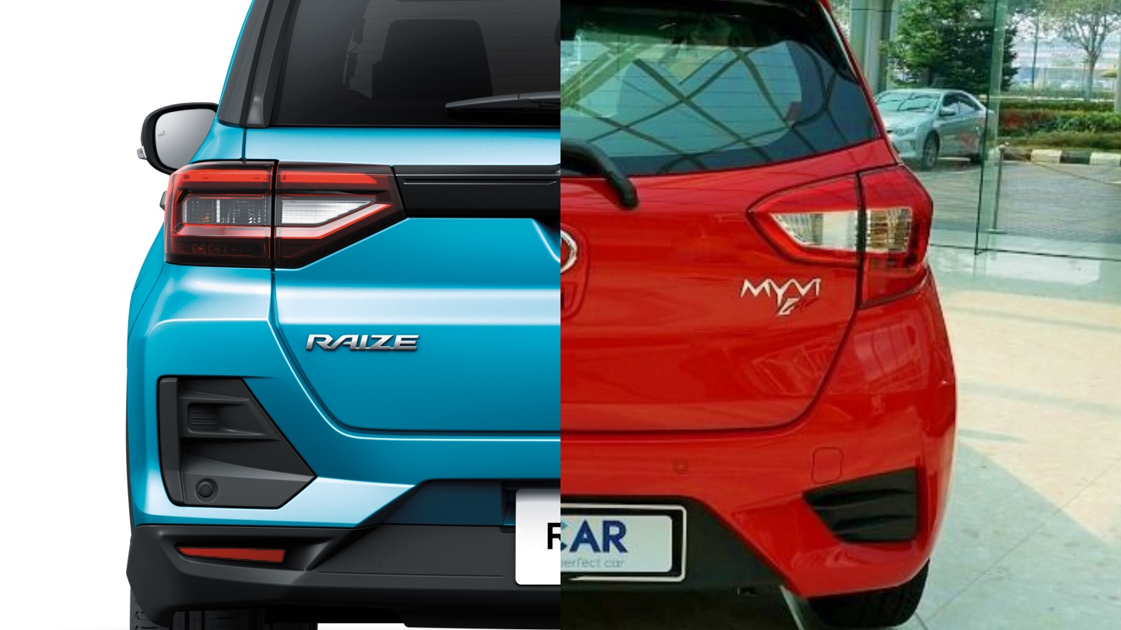 The Toyota Raize is not that much bigger than a Perodua Myvi
