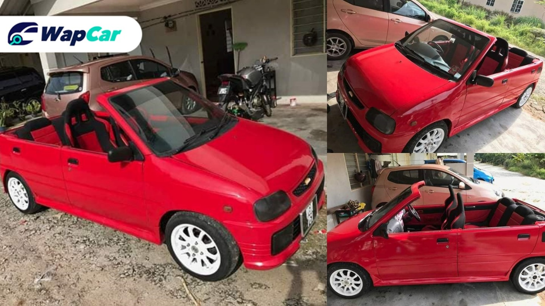 Topless Perodua Kancil on sale