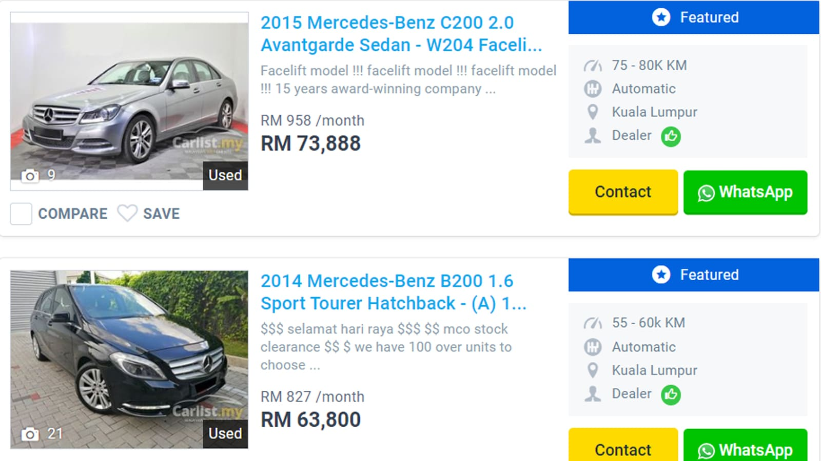 2020 Used Mercedes-Benz Malaysia