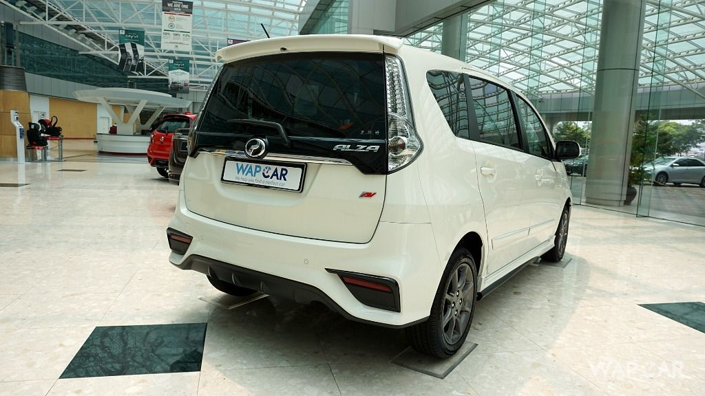 2018 Perodua Alza rear quarter shot