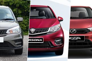 New 2020 Perodua Bezza vs Proton Saga vs Proton Persona – A bigger option for the same price?
