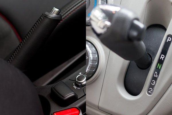 "Parking your car: Shift to ""P"" or pull the handbrake first?"