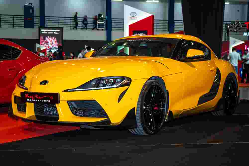 Toyota GR Supra with carbon fibre GR parts by TRD on display at TGR Festival